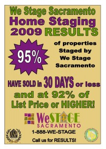 We Stage Sacramento - STAGING SUCCESS STATISTICS!
