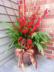 winter outdoor arrangement