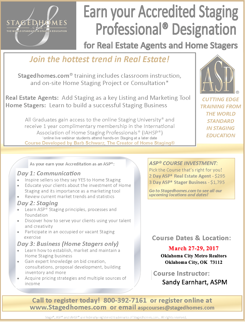 Oklahoma City March Flyer Home Staging Blog