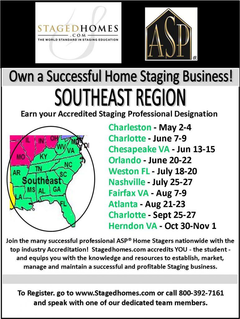 Southeast Region Classes Summer-Fall 2017
