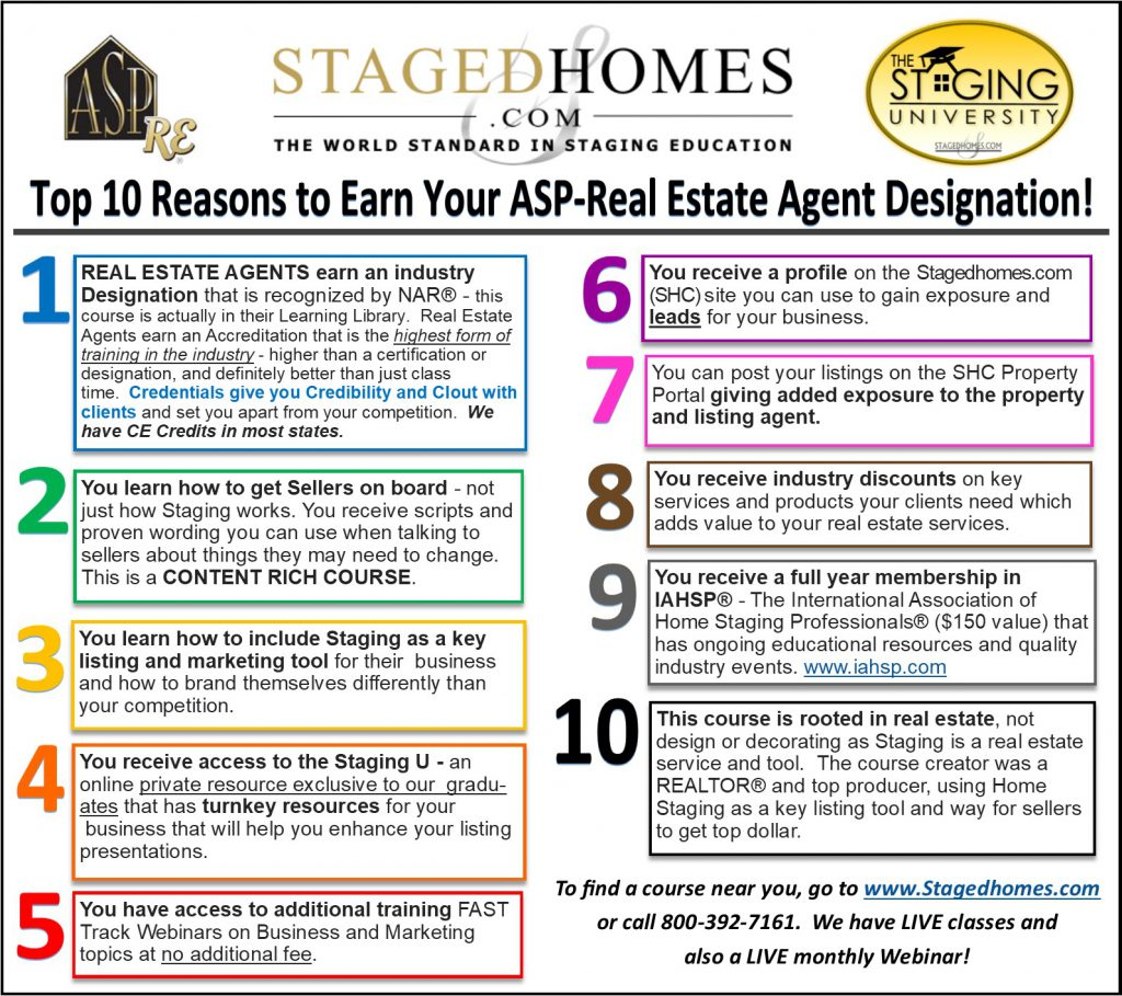 Top 10 Reasons To Earn Your Asp Real Estate Agent Designation