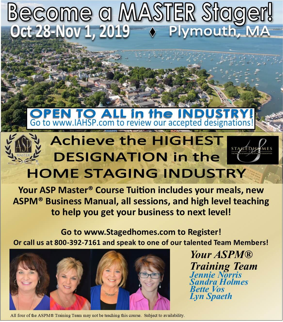 Become a MASTER Stager promo flyer