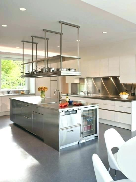 Charming Hanging Kitchen Shelf Hang Cabinet From Ceiling Google Restaurant Shelving Suspended Open Glass Storage Wooden Island With Rail